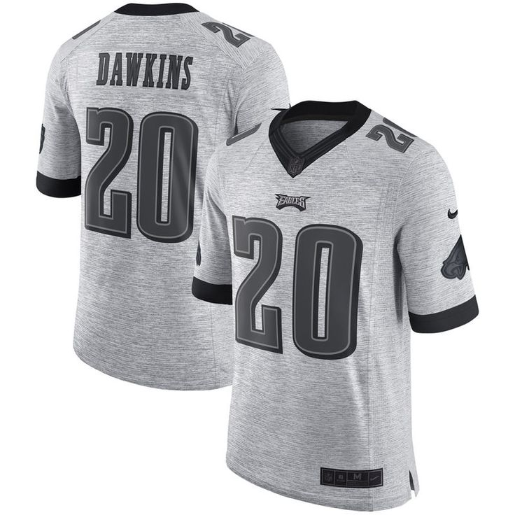 mens philadelphia eagles brian dawkins nike gray retired gridiron gray ii limited jersey