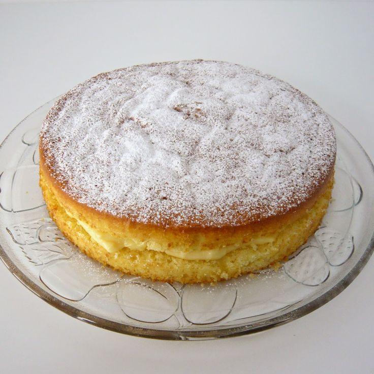 cómocomo: Tarta NUBE rellena de crema pastelera