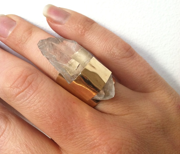Crystal Point Ring  by GLAM ROCKS Jewelry
