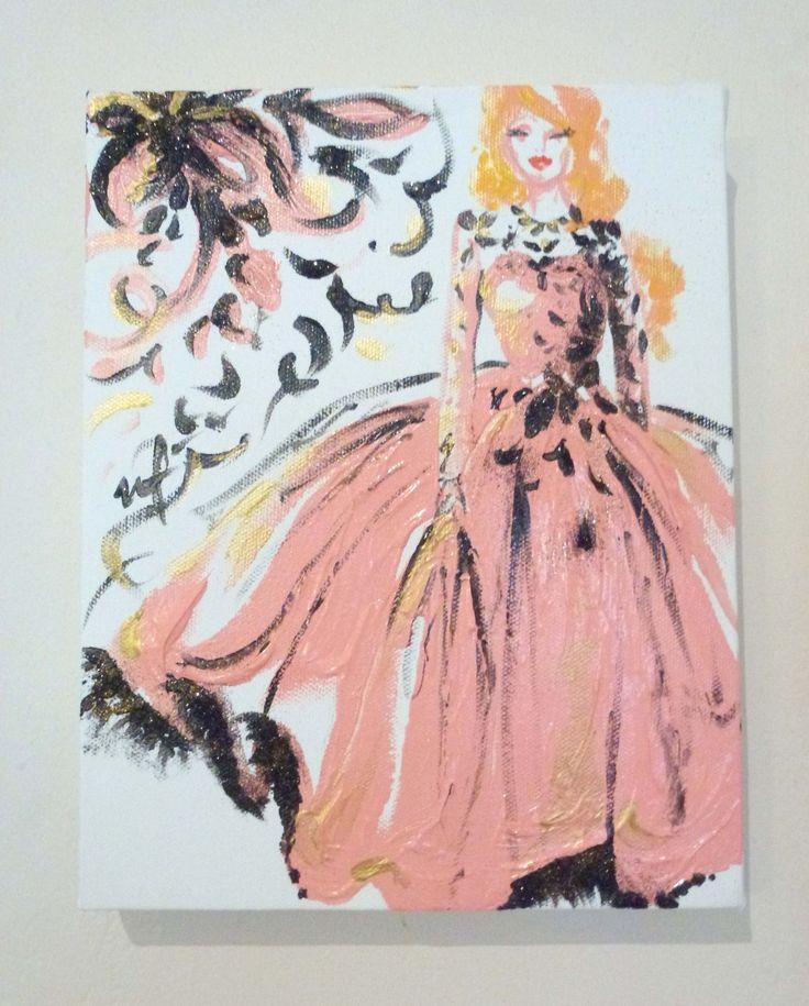 Black Petal Acrylic on Canvas 8″ x 10″