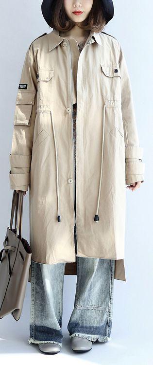 beige-cotton-trench-coat-tie-waist-loose-lapel--parka