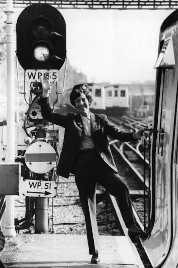 Ann Dodds, the first woman driver on London Underground, 6 October 1978.