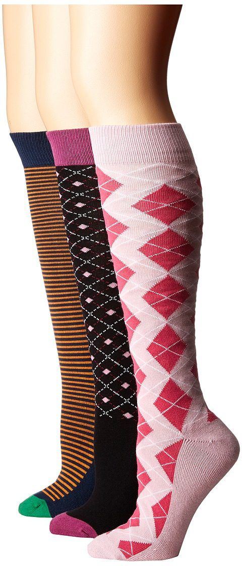 Old West Boots Knee Riding Socks 3-Pack (Black/Orange/Pink/Dark Pink) Women's Knee High Socks Shoes - Old West Boots, Knee Riding Socks 3-Pack, C10001, Footwear Socks Knee High, Knee High, Socks, Footwear, Shoes, Gift, - Street Fashion And Style Ideas