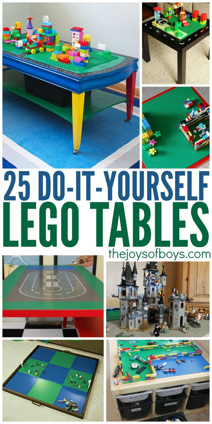 25 DIY LEGO Tables the Entire Family Will Love.  Some people are SO creative!  My boys would love all of these.