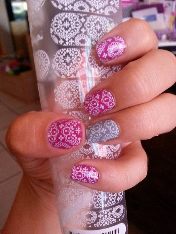 Jamberry's clear wraps are so versatile! Here's our Whisper wrap over our Mulberry and Ash lacquers - SO pretty!!