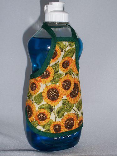 Sunflower Kitchen Decor Dish Soap Bottle Apron Cover Party Favors Staffer SM | eBay