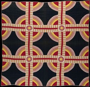 New York Beauty, Unknown maker (Kentucky), c.1860 Striking! It looks contemporary to me now, so I have to wonder how it was regarded then. Exhibited at Master Quilts Past and Present: Preserving the Voice of America's Quiltmakers, Faulconer Gallery @ Grinnell College