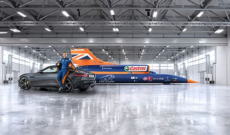 Lesjöfors springs at an exhibition in Cornwall dedicated to BLOODHOUND SSC. (European Springs & Pressings)