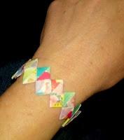 Paper chain bracelets