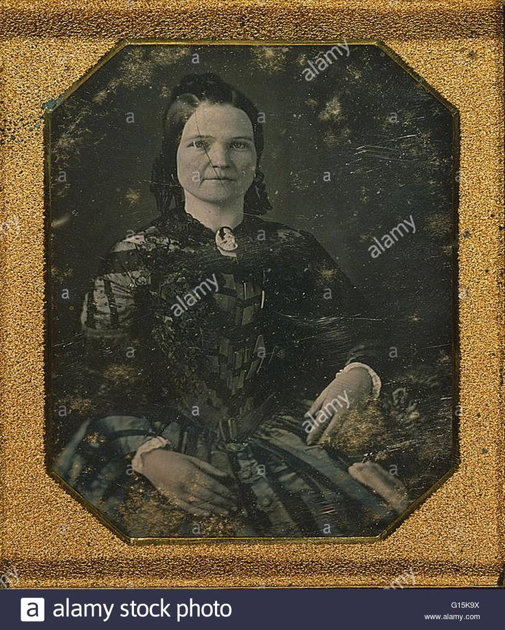 Download this stock image: Daguerreotype entitled: Mary Todd Lincoln, wife of Abraham Lincoln. Mary Ann Todd Lincoln ( December 13, 1818 - July 16, 1882) was the wife of the 16th President of the United States, Abraham Lincoln, and was First Lady of the United States from 1861 to 1 - G15K9X from Alamy's library of millions of high resolution stock photos, illustrations and vectors.