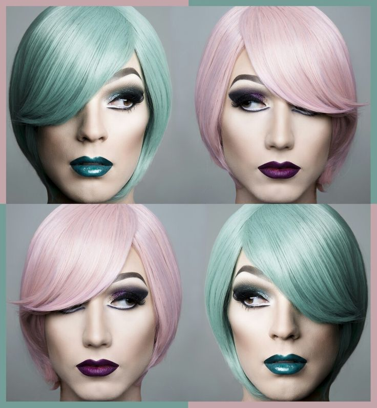 #proclass #makeupartist #pinkandgreen #travestiet
