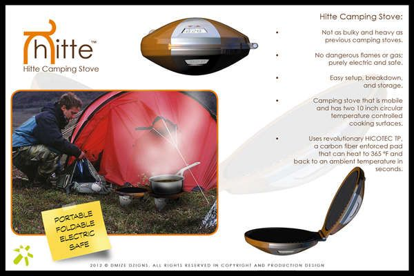 The Hitte Camping Stove is Safe, Reliable, Convenient and Compact #camping #outdoors trendhunter.com