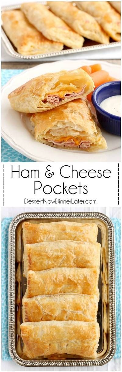 5 ingredient Ham and Cheese Pockets are easy to make for a great tasting hot lunch or dinner! on MyRecipeMagic.com