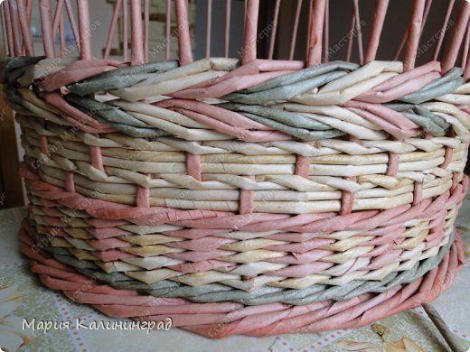 Мастер-класс Поделка изделие Плетение мк трёхцветной косы и пара плетушек Бумага газетная Трубочки бумажные фото 10