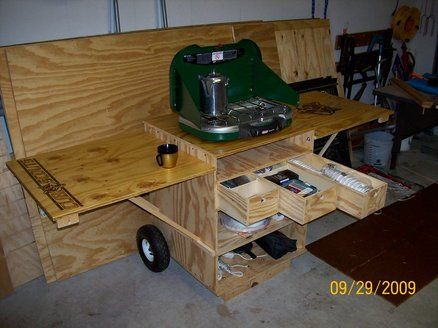 This Is A Custom Camp Box Built To Be Used By Local Cub Scout Troop The Front And Back Panels Can Removed Attached Sides Make Table
