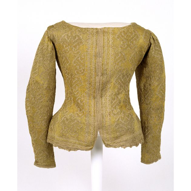 Woman's knitted silk jacket, possibly English, late 16th century -Glasgow Museums
