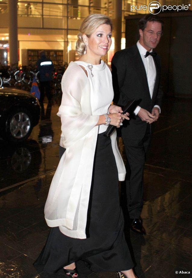 le 23 janvier 2012 Maxima a assisté à un dîner de gala ainsi que le premier ministre Rutte pour fêter les 50 ans de la chambre de commerce des USA
