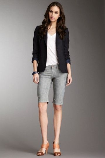 fine knee length shorts outfit 13