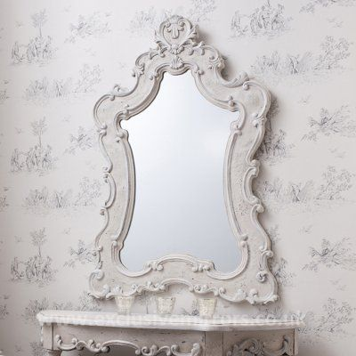 Antique cream Giselle mirror