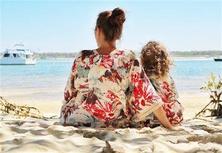 Mommy and Me, beach Kimono's.