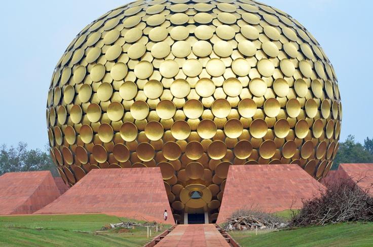 Auroville temple     , Matrimandir, Auroville, Pondicherry, India