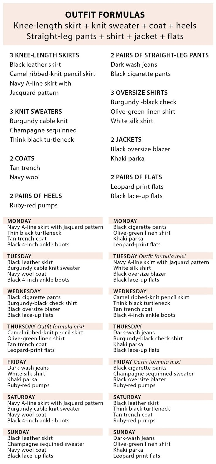 You can create two weeks' worth of outfits with just a few pieces. Use this checklist to  create a minimalist capsule wardrobe.