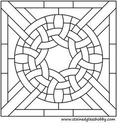 Celtic Stained Glass Patterns | Celtic Knot Square Stained Glass Panel 2