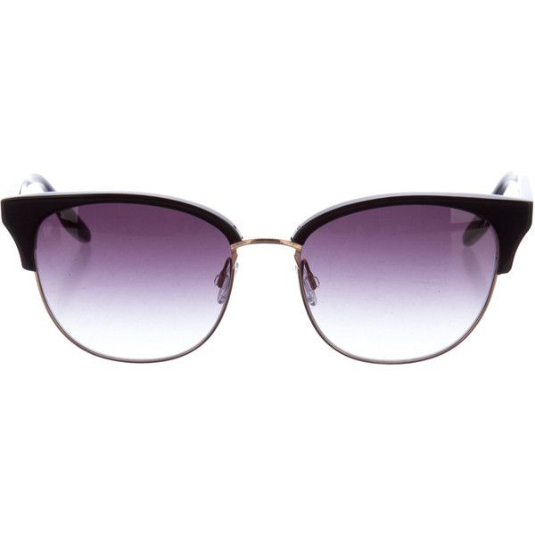 Pre-owned Barton Perreira Camden Clubmaster Sunglasses (£115) ❤ liked on Polyvore featuring accessories, eyewear, sunglasses, black, barton perreira glasses, barton perreira eyewear, acetate sunglasses, barton perreira sunglasses and gradient lens sunglasses