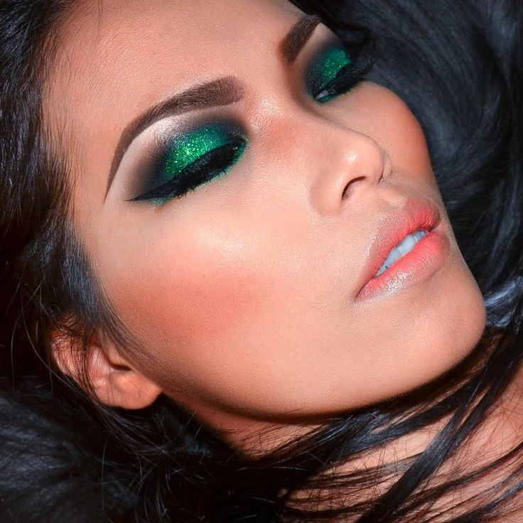 мейкап с зелеными тенями фото вашу девочку