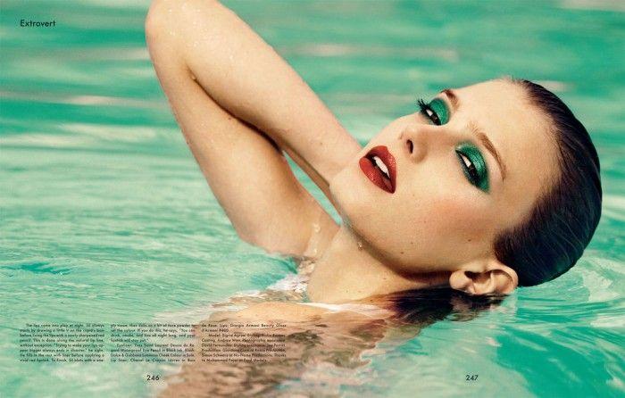 'The Gentlewoman'  Photographer: Daniel Riera   Model: Sigrid Agren  Makeup: Sil Bruinsma