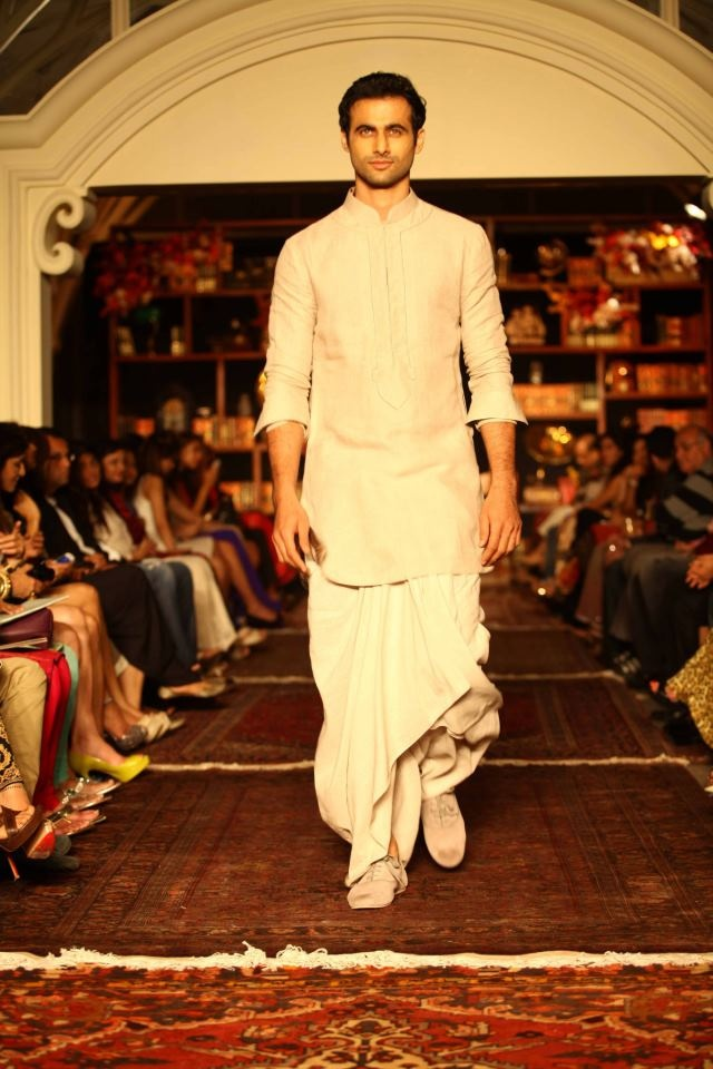 Love the dhoti and the shoes with it... Tarun Tahiliani. LFW 2013.