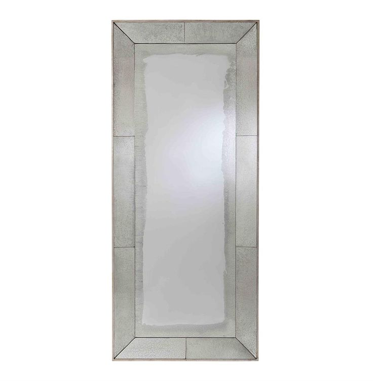 Vera Antiqued Mirror Contemporary Floor Mirror | Kathy Kuo Home
