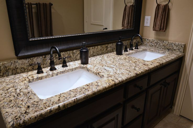 Santa cecilia granite bathroom vanity bathroom beauties for Granito santa cecilia