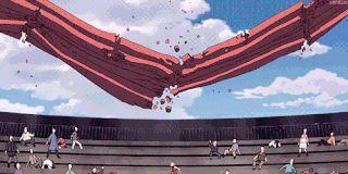anime, naruto shippuden, haruno sakura, punching, gif