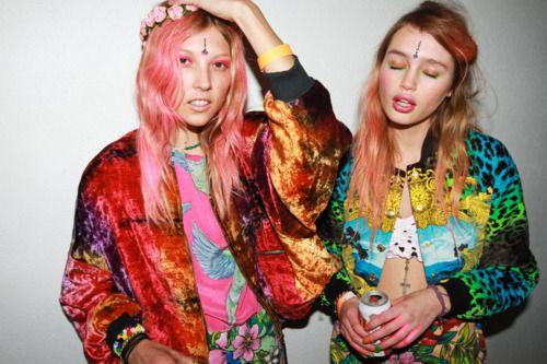 audrey kitching, rave, grunge, 90s, mixed prints