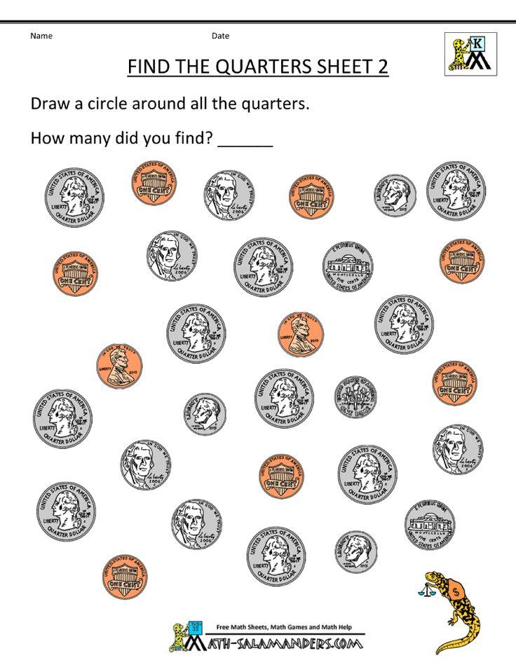 kindergarten-money-worksheets-find-the-quarters-2.gif (800 ...