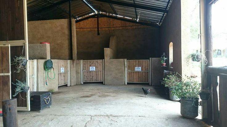 Cozy corners at Monte De Dios.  Pretoria gauteng South Africa. Beautiful stables with happy horses.