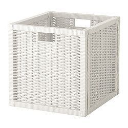 "BRANÄS Basket - white, 12 ½x13 ½x12 ½ "" - IKEA $14.99 -TOTALLY will paint these champagne gold"