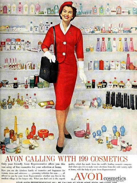 Avon Calling with 199 Cosmetics, April 1960. #vintage #1950s #1960s #Avon