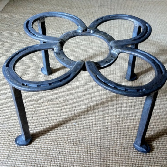 Horseshoe Stand Used For Dutch Ovens Open Fire Cooking