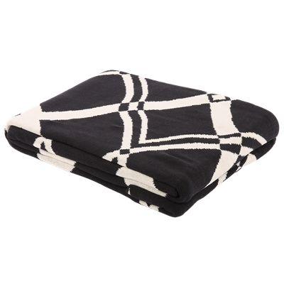 Plaid Vogue 130 x 170 cm design 4 zwart/wit € 39,95  #CasaBella #Plaid #Decoratie