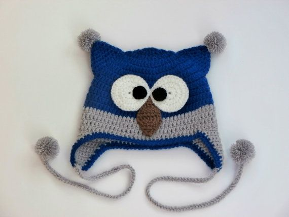 Crochet Owl HatOwl HatCrochet Owl Hat for babyhats by NataKnitwork