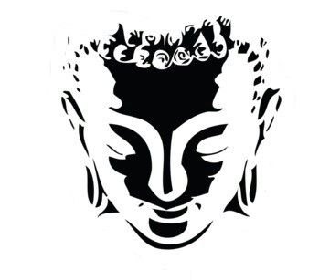Lovely Shiva Head Silhouette Template, Stencil, Sjabloon. Great for a awesome mural or other crafty purposes.