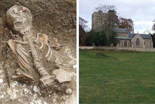Cambridgeshire workmen unearth ancient Anglo-Saxon skeletons while building church toilet