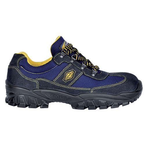 Zapato TICINO S1P SRC  Tipo Trecking. Horma ancha. .Material: Piel serraje y tejido transpirable.  Suela: Poliuretano doble densidad.  Puntera: Acero Plantilla: Acero.