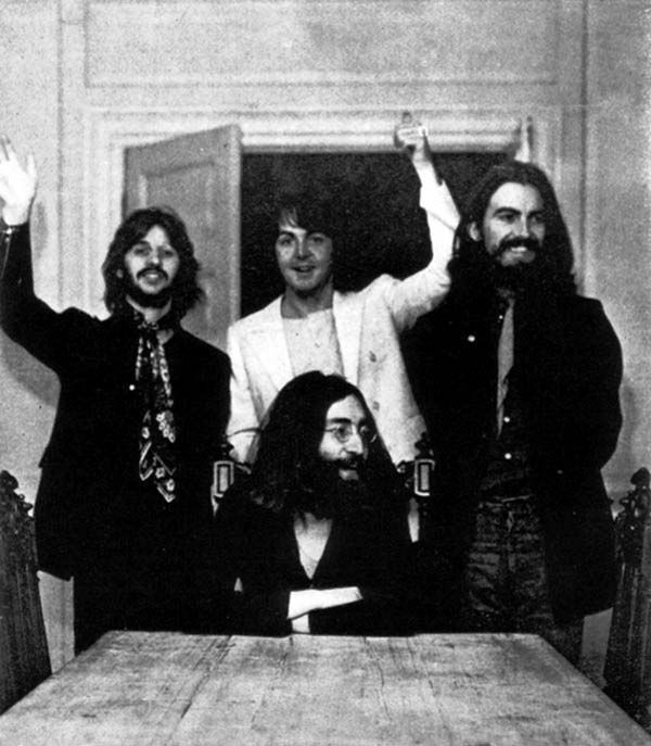 The last photograph of the Beatles together.
