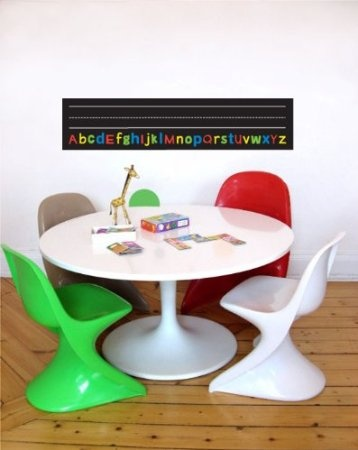 Amazon.com: Learn to Write Chalkboard Removable Wall Decal Stickers: Baby
