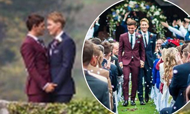 Tom Daley shares first photo of wedding to Dustin Lance Black