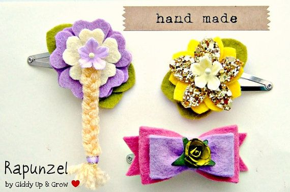 Rapunzel hair clip for treat bag
