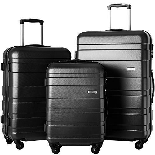 Luggage Set 3 Piece Travel Family Lightweight Spinner Suitcase ABS Material NEW #LuggageSetTravelFamily